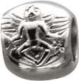 Silberanhänger, aus 925/- Silber Sterlingsilber, geeignet für Ketten bis 4 mm Stärke