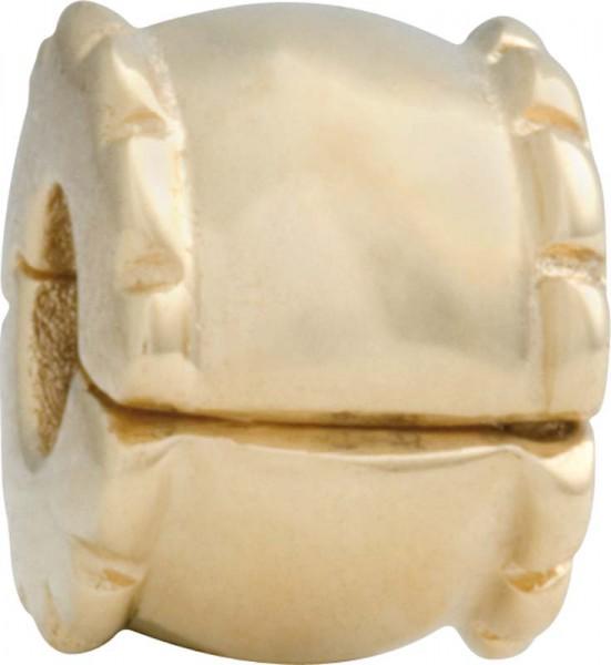 PANDORA Clipelement Modellnummer: 750256 Aus massivem 585/- ( 14Karat ) Gelbgold  Maße ca. 8,6mm x 6,3mm. In Premiumqualität von Deutschlands größtem und günstigstem Schmuckverkäufer. Der Hitpreis aus Stuttgart! Die Nr. 1 für Gold, Silber und Edelsteine.