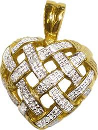 Anhänger aus Gelbgold 333/- 10 Diamanten 8/8 W/P 0,05ct