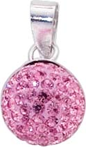 Kettenanhänger Sterling Silber 925 pink...