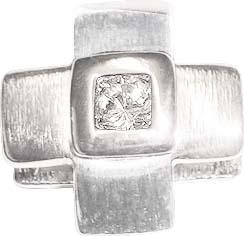 Anhänger aus Silber Sterlingsilber 925/-, Größe ca. 2 x 2 cm mit einem Cirkonia besetzt