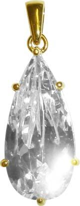 Silberanhänger 925/- goldpl attiert, mit einem Zirkon besetzt