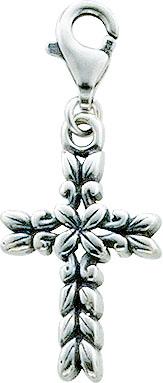 Charmanhänger  Kreuz aus echtem Silber Sterlingsilber 925/-. Zu einem Schnäppchenpreis von Deutschlands größdem Lieferanten Abramowicz, aus Stuttgart