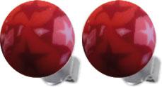 Ohrringe – Ohrstecker von Toyo Yamamoto. Wunderschöne Fimo Beads in hellem und dunklem Rot, Ø ca. 8 mm aus Edelstahl. Zum Schnäppchenpreis von Deutschlands größtem Schmuckhändler Abramowicz aus Stuttgart.