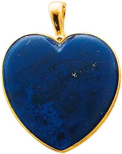 Anhänger Herz in Gelbgold 585/- mit wunderschönen blauem Lapislazuli, Maße ca. 29x28mm – zum Toppreis und in absoluter Premiumqualität von Deutschlands größtem und günstigstem Schmuckverkäufer ABRAMOWICZ aus Stuttgart. Ihr Juwelier für Gold, Silber und