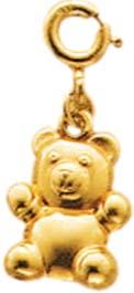 Goldanhänger / Einhänger Bär in 8 Karat