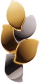 Anhänger in 8 Karat, 2-farbig, Lochgröße 2 mm