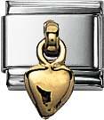 Nomination Herz Element mit Gold 750/-