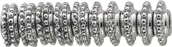 Elegantes Stopper Bead- Set 10-teilig von CHRYSTAL BLUE, Beads aus Metall, Durchmesser ca. 13mm,  geeignet für Ketten mit einer Stärke bis zu 3mm. Nur bei Abramowicz, Ihrem Vertrauensjuwelier aus Stuttgart.