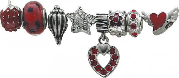 Beads-Set 8-teilig, Beads aus Metall
